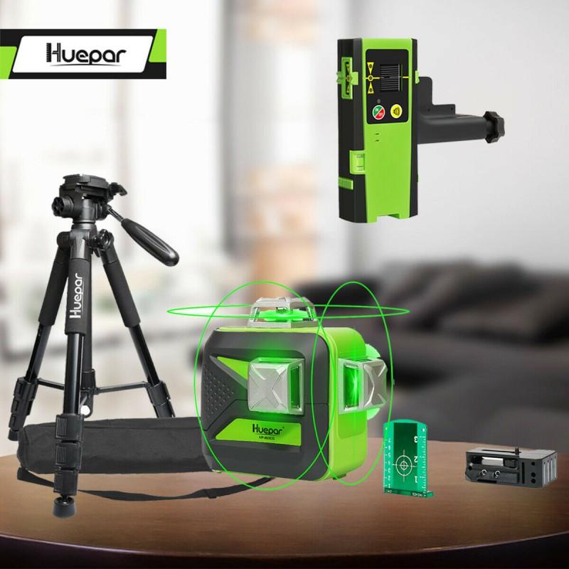 Linienlaser Huepar 603CG Empfänger Kreuzlinienlaser Nivelliergerät Laser